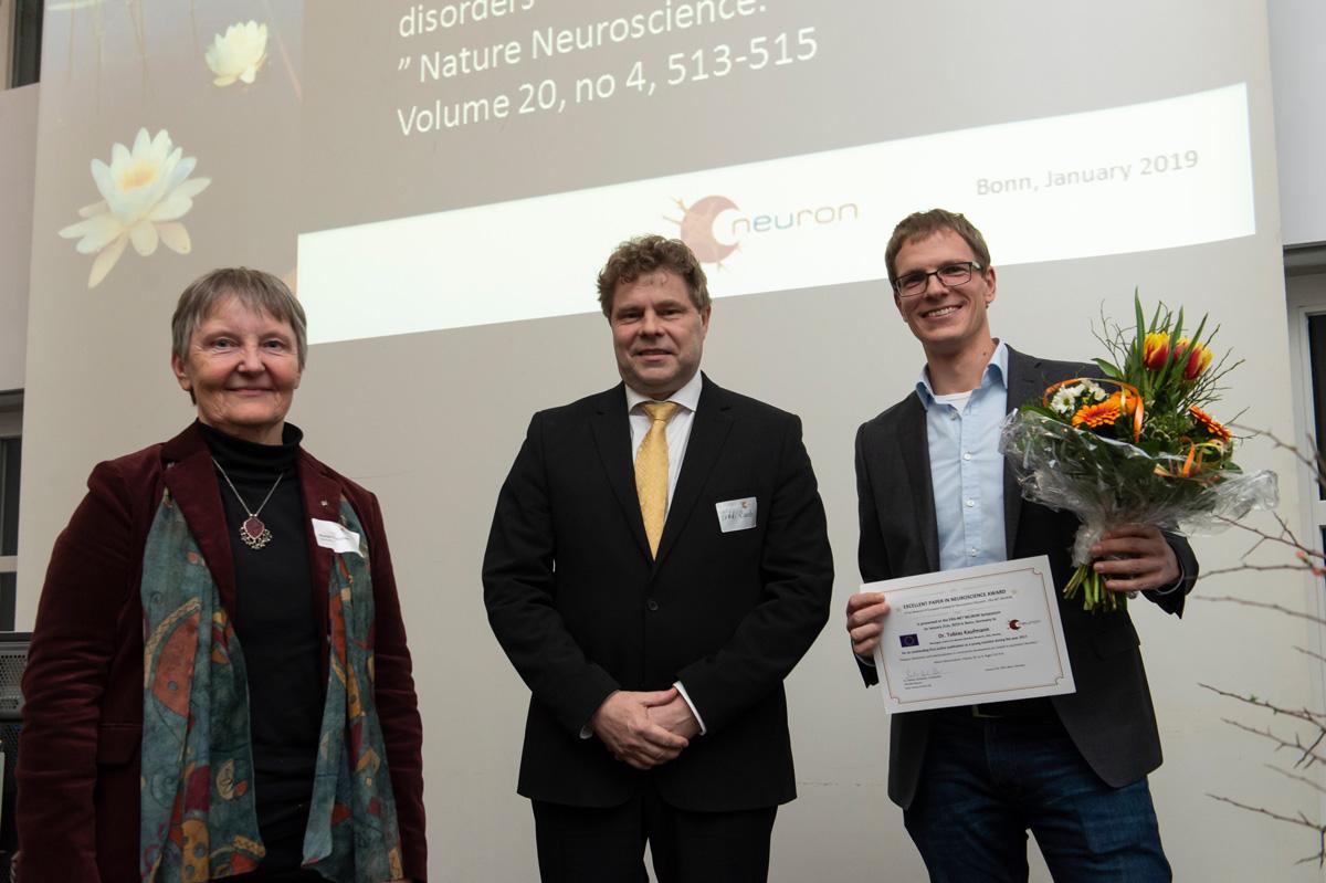 Marlies Dorlöchter, Erkki Raulo and EPNA Awardee 2018 Tobias-Kaufmann