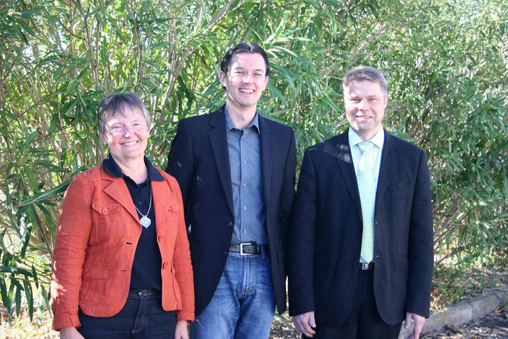 Dr. Marlies Dorlöchter, Dr. Jens Schwamborn and Dr. Erkki Raulo