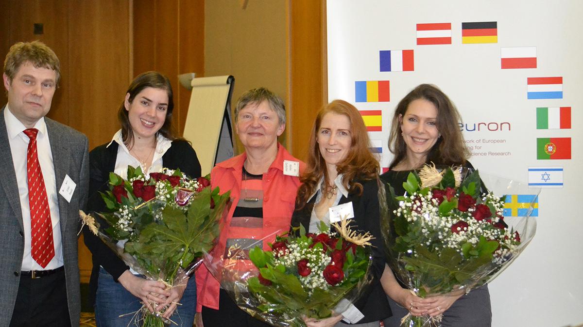 From left: Dr. Erkki Raulo, Inbal Benhar, Dr. Marlies Dorlöchter, Dr. Anat London and Elena Itskovichr
