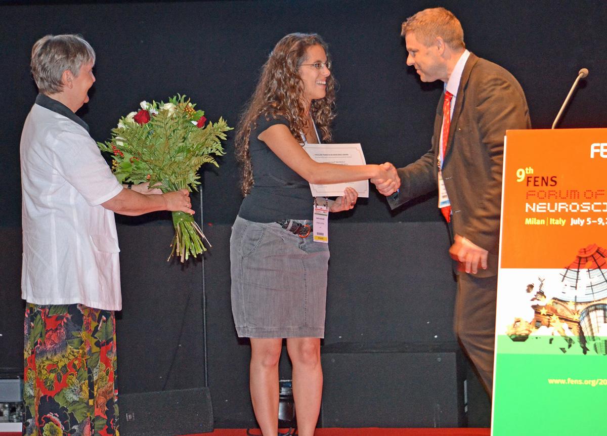 Dr. Marlies Dorlöchter, EPNA Awardee 2013 Dr. Nadia Kaouane and Erkki Raulo