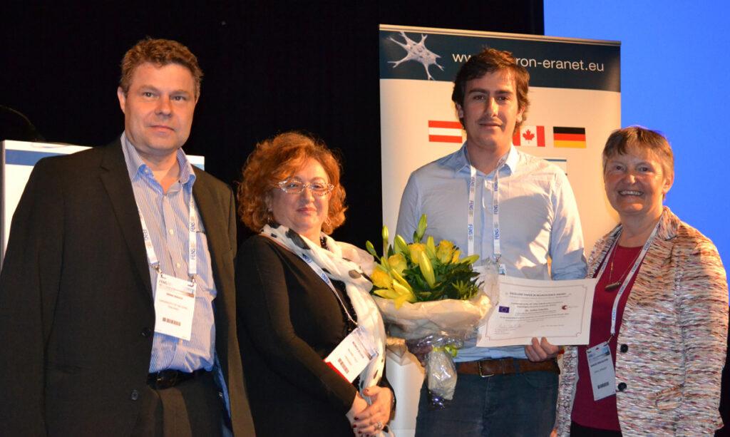 Erkki Raulo, Dr. Monica de Luca, EPNA Awardee 2015 Dr. Julien Courtin and Dr. Marlies Dorlöchter