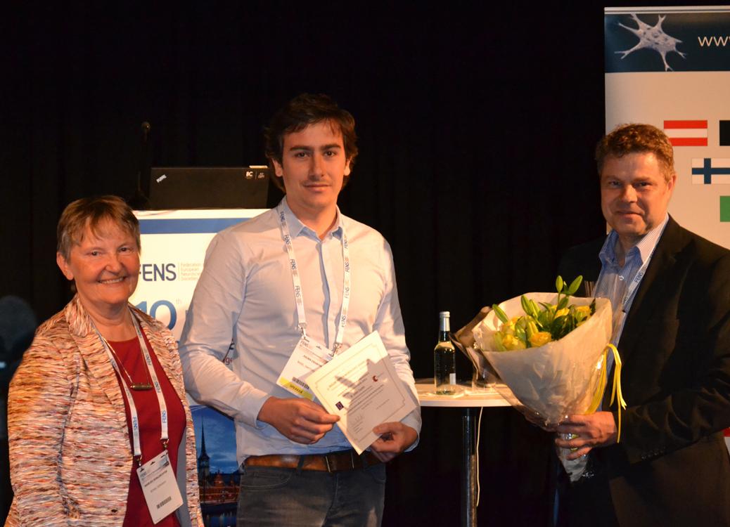 Dr. Marlies Dorlöchter, EPNA Awardee 2015 Dr. Julien Courtin and Erkki Raulo