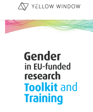 Logo Yellow Window Gender in EU-funded research