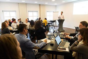 Dr. David Mellor and his audience at his keynote